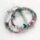Amazonite and Jade Bracelet Set