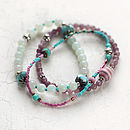 Amazonite and Jade Bracelet Set