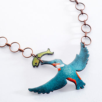 Kingfisher Enamel Necklace
