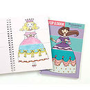 Thumb flip and draw princess colouring notebook