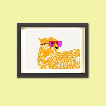Cheetah With Sunglasses Nursery Print
