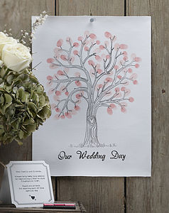 'Our Wedding Day' Finger Print Tree Kit - summer sale