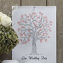 'Our Wedding Day' Finger Print Tree Kit