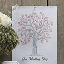 'Our Wedding Day' Finger Print Tree Kit
