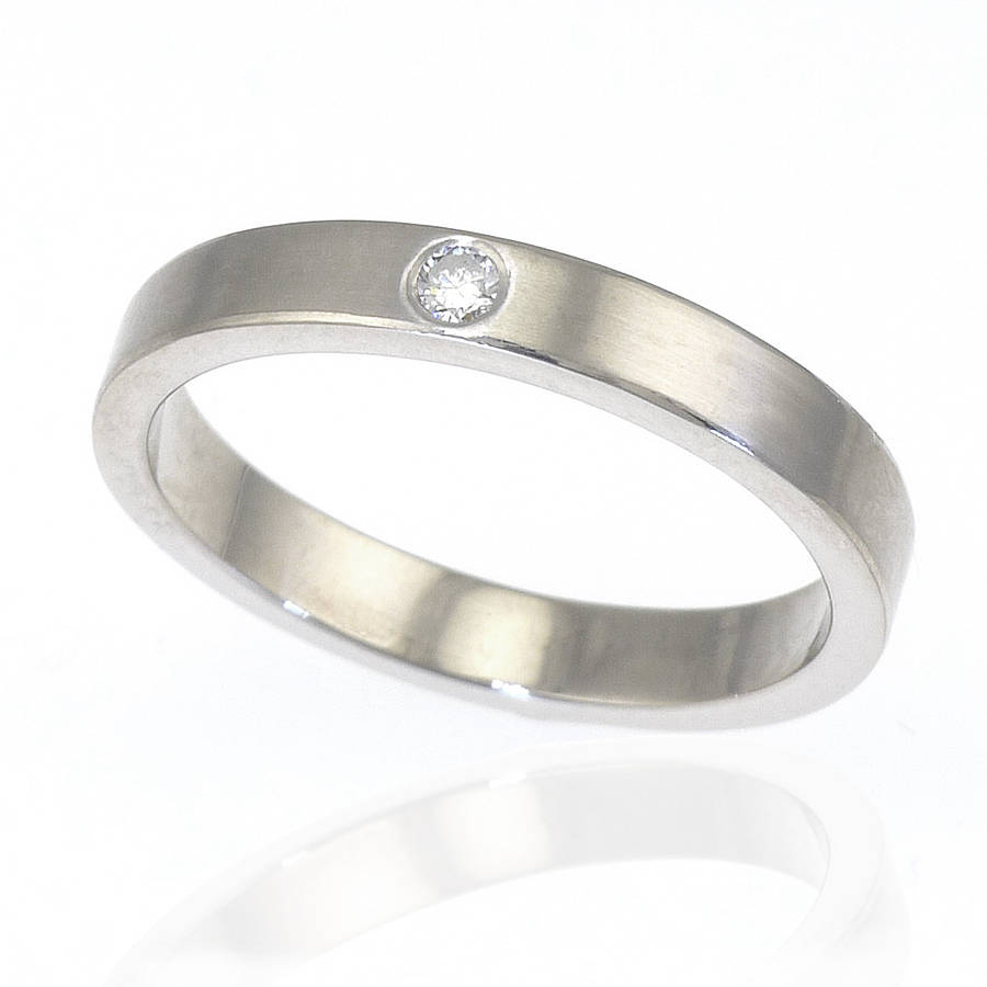 Diamond Wedding Ring In Sterling Silver