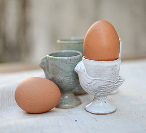 Hand Moulded Chick Egg Cup - tableware