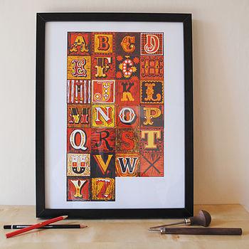 A To Z Alphabet Print