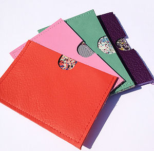 Personalised Bright Leather Card Holder - bags & purses