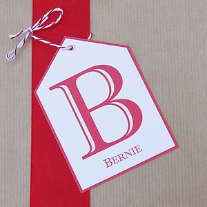 Personalised Initial Gift Tag - shop by category