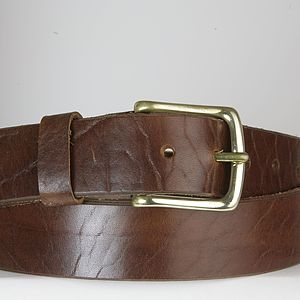 Personalised English Leather Belt