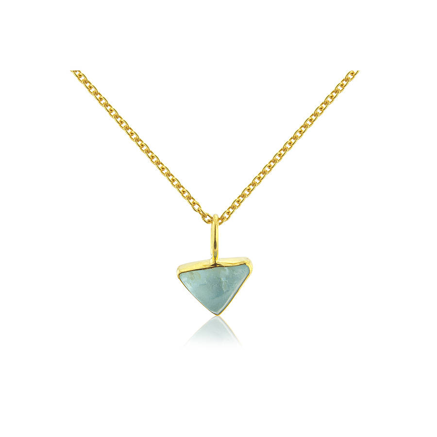 gold with necklaces sterling inch on one single triangle yellow crystal onebyone cm shaped necklace allobar vermeil triangular long in sixteen over silver pendant chain by trinity