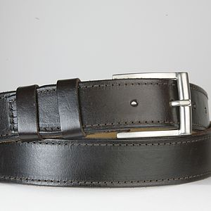 Huntingdon Leather Dress Belt - for him