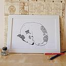Sleeping Jack Russell Print