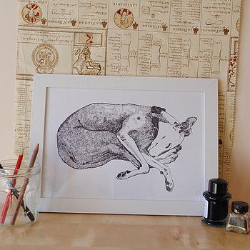 Lurcher Print