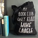 My Book Club'Tote Bag In BLACK
