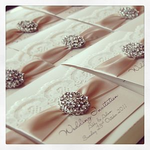 Opulence Crystal Wedding Invitation - wedding stationery