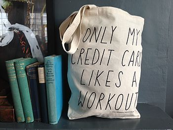 'Credit Card Workout' Tote Bag