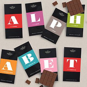 Personalised Chocolate Alphabet Bar - personalised gifts for foodies