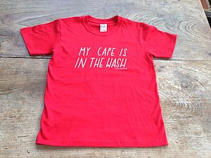My Cape Is In The Wash Kids T Shirt - gifts for children