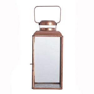 Copper Lantern - lights & candles