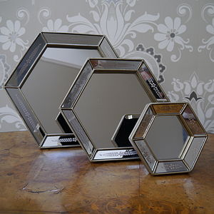 Venetian Style Hexagonal Mirror - bedroom