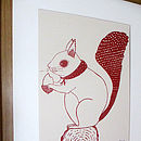 'Susie The Squirrel' Screen Print