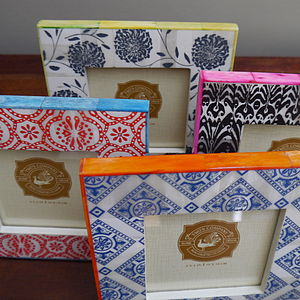 Square Colourful Ikat Picture Frame - picture frames
