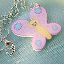 Girl's Butterfly Acrylic Necklace
