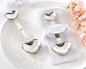 'Two Hearts' Stainless Steel Measuring Spoon - wedding favours