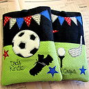 Two of the Persoanlised Kindle Cases from the Sports Range, football & golf shown