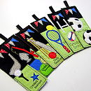 Personalised Bookmarks from the Sports Range, Football, Rugby, Cricket, Tennis, Golf & Fishing