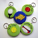 Personalised Sport Themed Keyrings & Bottle Openers