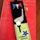 Personalised Golf Bookmark