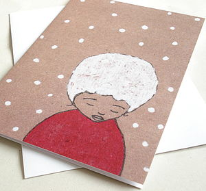 'Forlorn' Snowy Christmas Greeting Card