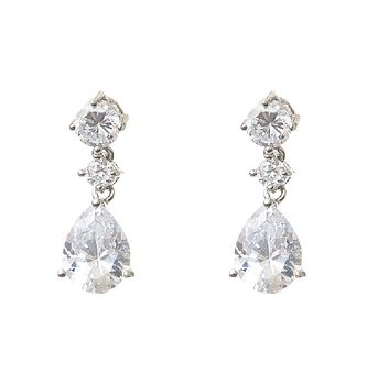 Coralie Vintage Style Crystal Earrings