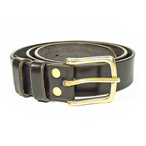 Bark Tanned Leather Belt - belts