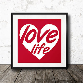 Personalised 'Love Life' Poster