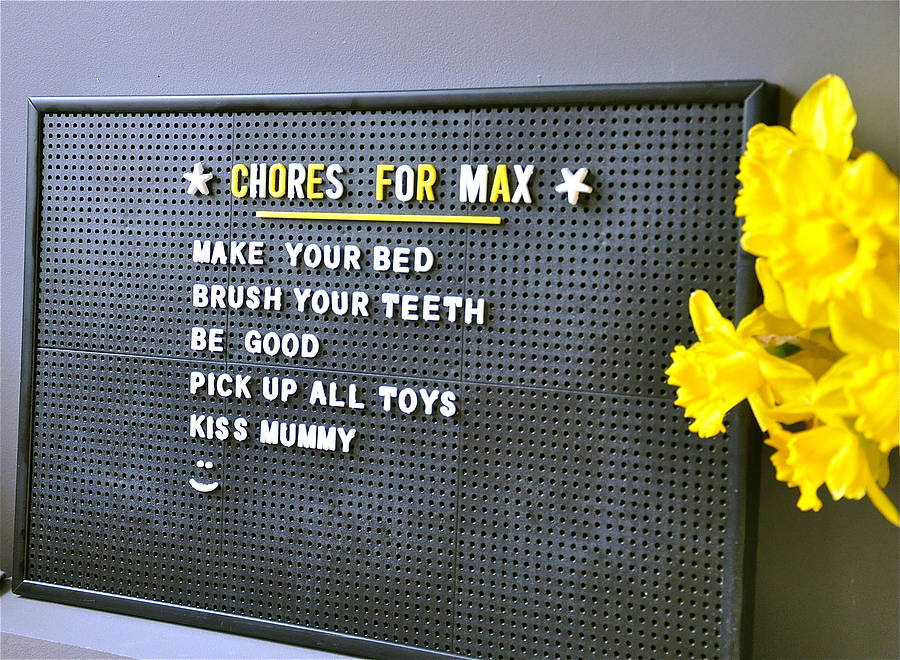 retro letter peg board by letteroom. Black Bedroom Furniture Sets. Home Design Ideas