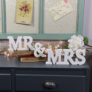'Mr & Mrs' Letter Decoration - room decorations