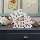 'Mr & Mrs' Letter Decoration