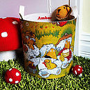 Vintage Wombles Fabric Toy Storage Tub