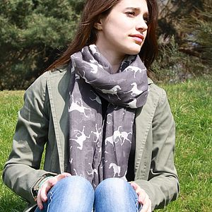 Horse Print Scarf - scarves & gloves