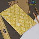 Jewel notebook in mustard