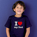Personalised I 'Heart' Daddy T Shirt