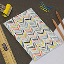Multicoloured chevron notebook