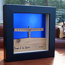 Angel of The North Mini Wall Art (Metallic Ocean Blue)