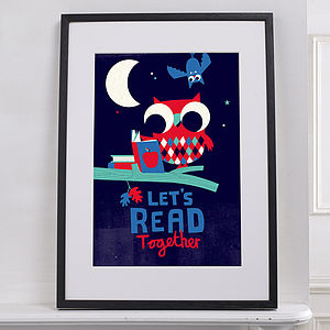 Let's Read Limited Edition Nursery Print - limited edition art