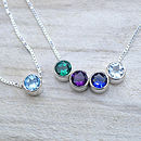 Birthstone Necklace In Sterling Silver