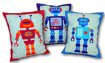 Kids robot cushions Catching Stars