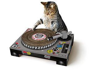 Cat Scratching Dj Deck - gifts for pets